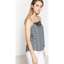 Bluzki asymetryczne: Wzorzysta koszulka z cienkimi ramiączkami