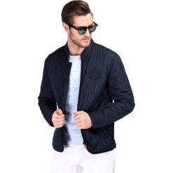 Kurtka GIOVANNI KUGR000074. Niebieskie kurtki męskie pikowane Giacomo Conti, na lato, m. Za 499,00 zł.