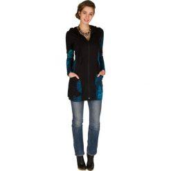 Bluzy rozpinane damskie: Bluza w kolorze czarno-turkusowym