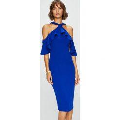 Answear - Sukienka. Szare sukienki na komunię marki ANSWEAR, na co dzień, l, z elastanu, casualowe, midi, dopasowane. W wyprzedaży za 139,90 zł.