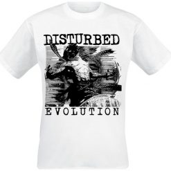 Disturbed Sketch T-Shirt biały. Białe t-shirty męskie z nadrukiem Disturbed, m, z okrągłym kołnierzem. Za 74,90 zł.