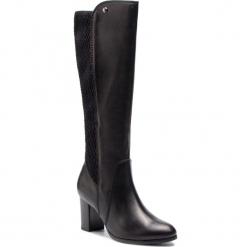 Kozaki CAPRICE - 9-25528-21 Black Nappa 022. Czarne buty zimowe damskie Caprice, z materiału, na obcasie. W wyprzedaży za 339,00 zł.