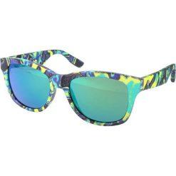 """Okulary przeciwsłoneczne męskie: Okulary przeciwsłoneczne """"0002/S XAC/Z9"""" w kolorze limonkowo-niebieskim"""