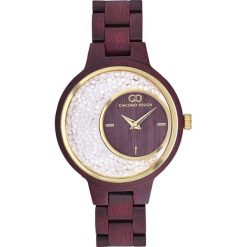 Zegarek Giacomo Design Drewniany  damski  GD28001. Brązowe zegarki damskie Giacomo Design. Za 415,00 zł.