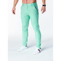 Spodnie męskie: SPODNIE MĘSKIE CHINO P646 – MIĘTOWE