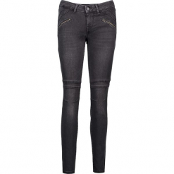 """Dżinsy """"Jasmin"""" - Slim fit - w kolorze antracytowym. Niebieskie jeansy damskie relaxed fit marki Mustang, z aplikacjami, z bawełny. W wyprzedaży za 217,95 zł."""