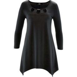 Tunika shirtowa, rękawy 3/4 bonprix czarny. Czarne tuniki damskie bonprix. Za 89,99 zł.
