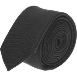 Krawaty męskie: krawat platinum czarny slim 200