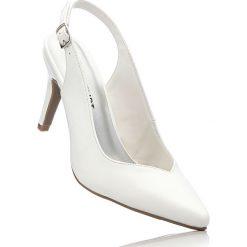 Buty ślubne damskie: Czółenka z paskiem bonprix biały