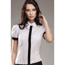 Biała Wizytowa Koszula z Krótkim Rękawem - Promocja!. Białe koszule damskie Molly.pl, l, wizytowe, z krótkim rękawem. Za 89,90 zł.