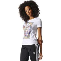Adidas Koszulka damska Tongue L Tee biała r. 36 (BK2314). Szare topy sportowe damskie marki Adidas, l, z dresówki, na jogę i pilates. Za 116,59 zł.