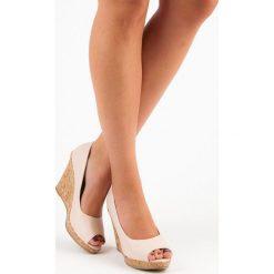 Czółenka: Czółenka na koturnie open toe  VICES
