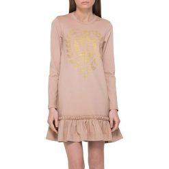 Sukienki hiszpanki: Sukienka w kolorze beżoworóżowym