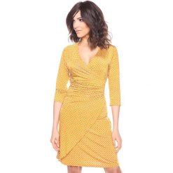 """Sukienki hiszpanki: Sukienka """"Myriam"""" w kolorze żółtym"""