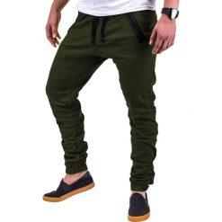 SPODNIE MĘSKIE JOGGERY P389 - ZIELONE. Zielone joggery męskie Ombre Clothing. Za 69,00 zł.