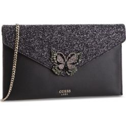 Torebka GUESS - HWGB71 11280 BLA. Czarne torebki klasyczne damskie marki Guess, z aplikacjami, ze skóry ekologicznej. Za 449,00 zł.