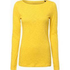 Marc O'Polo - Damska koszulka z długim rękawem, żółty. Żółte t-shirty damskie Marc O'Polo, xl, polo. Za 139,95 zł.