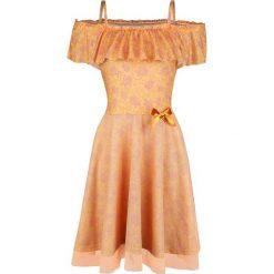 Piękna i Bestia Pretty Belle Sukienka żółty. Żółte sukienki na komunię Piękna i Bestia, l, z nadrukiem, z falbankami. Za 144,90 zł.