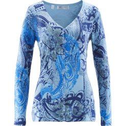 Swetry damskie: Sweter rozpinany bonprix lodowy niebieski - kobaltowy