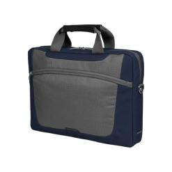 """Sumdex PON-318NV-1 15""""-16"""" niebieska. Niebieskie torby na laptopa marki Sumdex, w paski. Za 79,90 zł."""