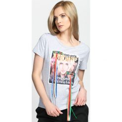 Szary T-shirt Gold Digger. Szare bluzki asymetryczne Born2be, l. Za 19,99 zł.