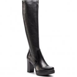 Kozaki SERGIO BARDI - Beura FW127357118CC  601. Czarne buty zimowe damskie Sergio Bardi, z materiału, na obcasie. W wyprzedaży za 299,00 zł.
