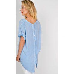 Odzież damska: Tunika koszulowa z guzikami na plecach