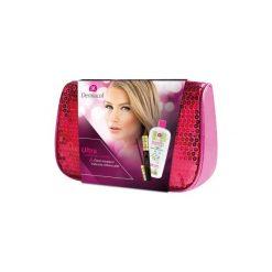 Kosmetyczki męskie: Dermacol Ultra Tech zestaw Wydłużający tusz do rzęs 10 ml + Oczyszczająca woda micelarna Sensitive 400 ml + Różowa kosmetyczka dla kobiet