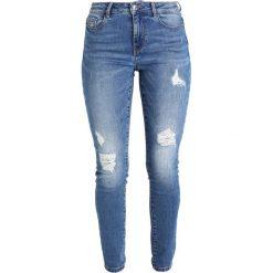 Vero Moda VMSEVEN REPAIR Jeansy Slim Fit medium blue denim. Niebieskie rurki damskie Vero Moda. Za 169,00 zł.