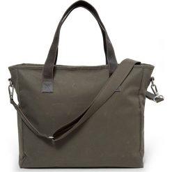 """Torebka """"Kerr"""" w kolorze khaki - 40 x 33 x 12 cm. Brązowe torby na laptopa marki Eastpak, w paski, z materiału. W wyprzedaży za 260,95 zł."""