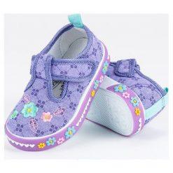 Buty dziecięce: Fioletowe trampki na rzep  AMERICAN CLUB fioletowe