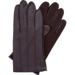Rękawiczki męskie 39-6-342-B. Brązowe rękawiczki męskie marki Wittchen, z polaru. Za 149,00 zł.