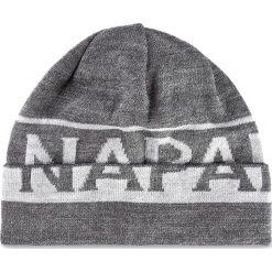 Czapka męska NAPAPIJRI - N0YH3X197 Far Dark Grey Mel. Szare czapki damskie marki Napapijri, z dzianiny. Za 170,00 zł.