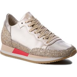 Buty damskie: Sneakersy PHILIPPE MODEL – Bright CHLD MG14 Metallic Plati/Sand