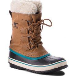 Śniegowce SOREL - Winter Carnival NL1495 Camel Brown/Marron Chameau 224. Brązowe buty zimowe damskie Sorel, z gumy. W wyprzedaży za 369,00 zł.