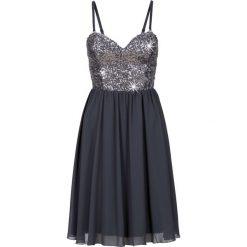 Sukienki hiszpanki: Sukienka szyfonowa z cekinami bonprix szary