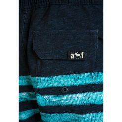 Abercrombie & Fitch CORE  Szorty kąpielowe navy/aqua. Niebieskie spodenki chłopięce Abercrombie & Fitch, z elastanu, sportowe. W wyprzedaży za 132,30 zł.
