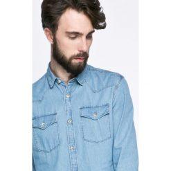 Produkt by Jack & Jones - Koszula. Szare koszule męskie jeansowe marki PRODUKT by Jack & Jones, l, z klasycznym kołnierzykiem, z długim rękawem. Za 129,90 zł.