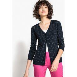 Kardigany damskie: Sweter rozpinany w grochy