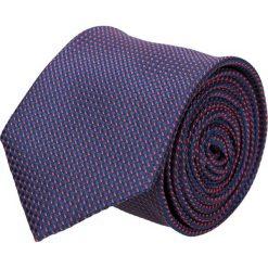 Krawat platinum granatowy classic 217. Niebieskie krawaty męskie Recman, w kropki, z tkaniny, biznesowe. Za 49,00 zł.
