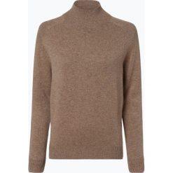 Marie Lund - Damski sweter z wełny merino, beżowy. Brązowe swetry klasyczne damskie Marie Lund, xxl, z dzianiny. Za 249,95 zł.