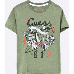 Guess Jeans - T-shirt dziecięcy 118-176 cm. Szare t-shirty chłopięce z nadrukiem marki Guess Jeans, l, z bawełny. Za 129,90 zł.