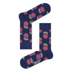 Skarpety Happy Socks Pineapple (PIN01-6000). Niebieskie skarpetki męskie Happy Socks, z bawełny. Za 23,99 zł.