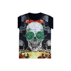 T-shirt SKULL with green eyes. Czarne t-shirty damskie Missspark, m, z bawełny. Za 129,99 zł.