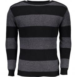 Sweter w kolorze czarno-szarym ze wzorem. Niebieskie swetry klasyczne męskie marki GALVANNI, l, z okrągłym kołnierzem. W wyprzedaży za 249,95 zł.