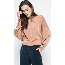 Vero Moda - Bluzka. Szare bluzki z odkrytymi ramionami marki Vero Moda, m, z poliesteru, casualowe, z okrągłym kołnierzem. W wyprzedaży za 79,90 zł.
