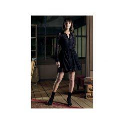 Sukienka DIANE z koronki. Niebieskie sukienki koronkowe marki bonprix, z nadrukiem, na ramiączkach. Za 550,00 zł.
