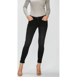 Pepe Jeans - Jeansy Lola. Czarne jeansy damskie Pepe Jeans, z bawełny. Za 359,90 zł.