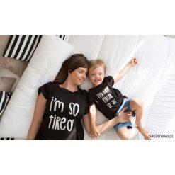 Odzież chłopięca: Zestaw 2 koszulek mama dziecko (czarny)