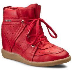 Sneakersy CARINII - B3509 Rossa. Czerwone botki damskie skórzane Carinii, na koturnie. W wyprzedaży za 229,00 zł.